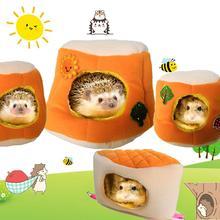 Плюшевый хлопковый домик для собак, гамак, Висячие кровати на дереве, хомяк; попугай, ежик, теплое декоративное гнездо-гамак, кровать для домашних животных, хомяк, белка