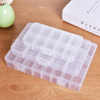 XUNZHE Storage Box 10-24 siatka plastikowa kosmetyczka do przechowywania klejnot koralik etui Skrzynka na pojemniki regulowany Organizator tanie i dobre opinie Plastikowe W XUNZHE przezroczyste dzielone pudełko 13 * 7 * 2cm pudełko z klejnotem drobne rzeczy mogą być umieszczone takie jak pierścienie kolczyki pigułki