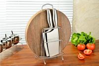 Home Accessories 1Pcs Hot Sale Stainless Steel Space Saving Knife Plate Rack Kitchen Organizer Cutting Board