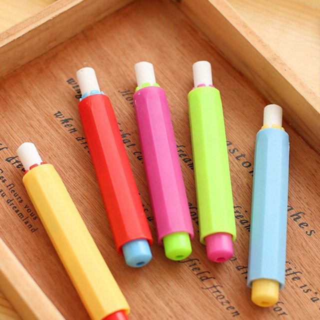 5pcs Whole Dustless Chalk Holder Pen Clip For Teacher Porta Tiza On Blackboard Sticker Chalkboard