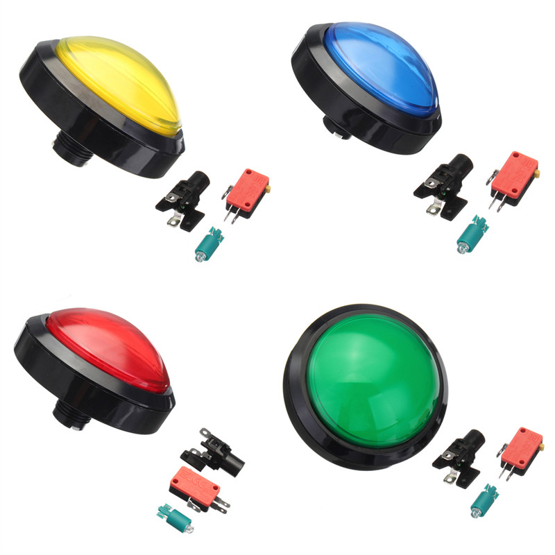 100-Type Convex With Light Button Game Consoles Large Round Button Game Button Switch Colorful Push Button Switch original new 100% japan import fhm 1w890xbxs1 button switch with led light touch large volume button
