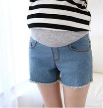 Korean spring and summer fashion flash maternity shorts pregant women pants  denim pregnant belly support SH-8889