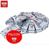 LEPIN 05007 1381Pcs Star Series Wars Millennium Falcon Force Awakening Building Blocks Toys For Children Toys