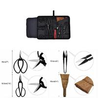 15pcs bonsai carbon steel tool set cutting scissors kit with nylon case for garden trimming tool JA55