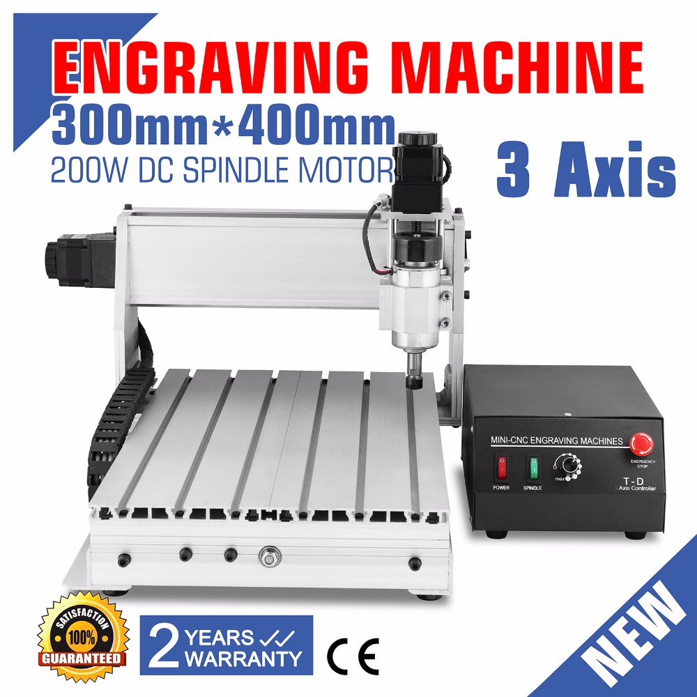 High 3 AXIS 3040 CNC ROUTER ENGRAVER ENGRAVING Updated New CNC 3040T Router Engraver/Engraving Drilling And Milling Machine