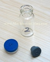 100pcs 2ml glass bottle with rubber stopper and flip off cap