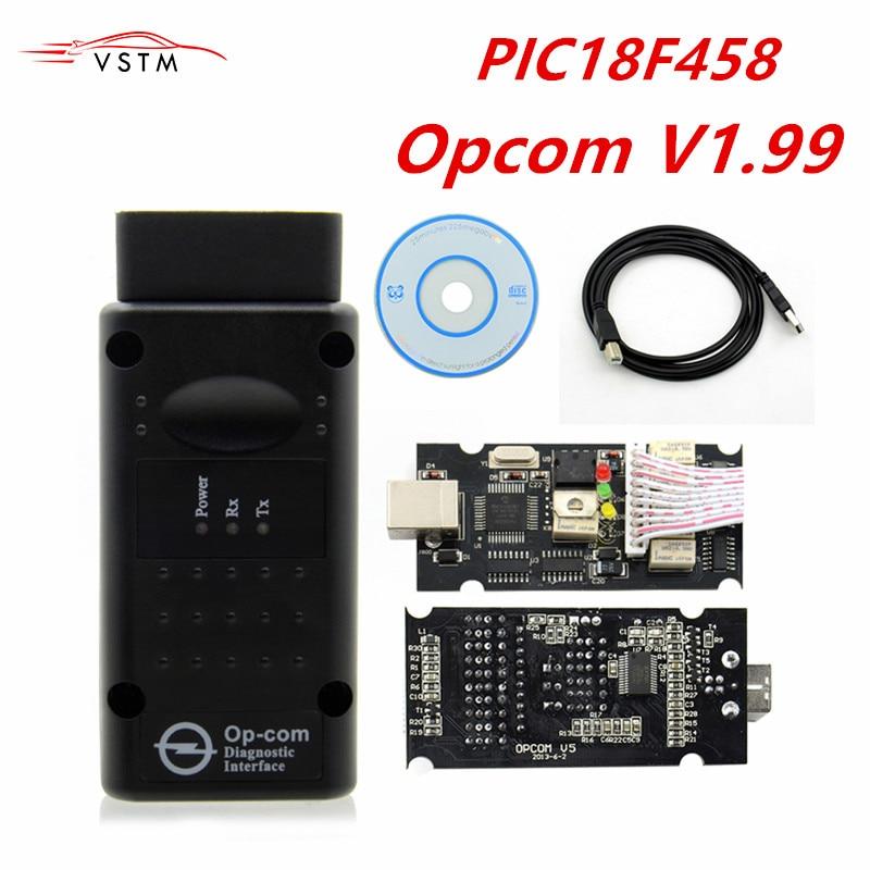 Opcom v1.59 v1.70 1.95 1.99 firmware melhor qualidade OP-COM para opel diagnostic-ferramenta op com com com pic18f458 real pode ser atualização flash