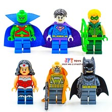 ขายเดียว superhero Marvel Avengers Batman Bizarro Bane Wonder Woman Building Blocks อิฐของเล่นเด็ก brinquedos menino(China)
