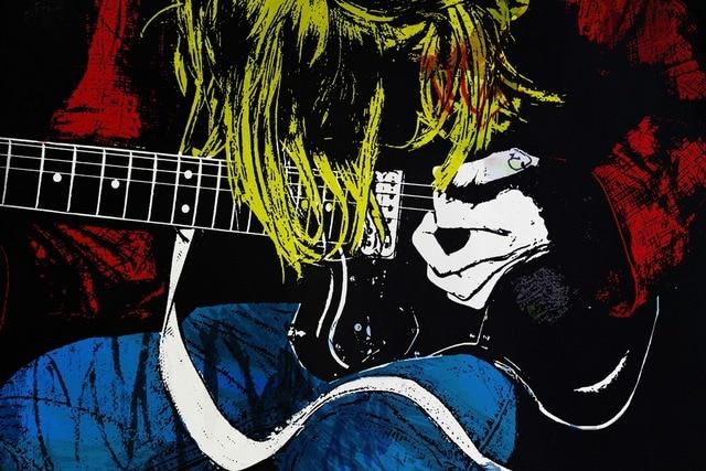 Arte da guitarra músico guitarrista ma005 estilo desenho da arte