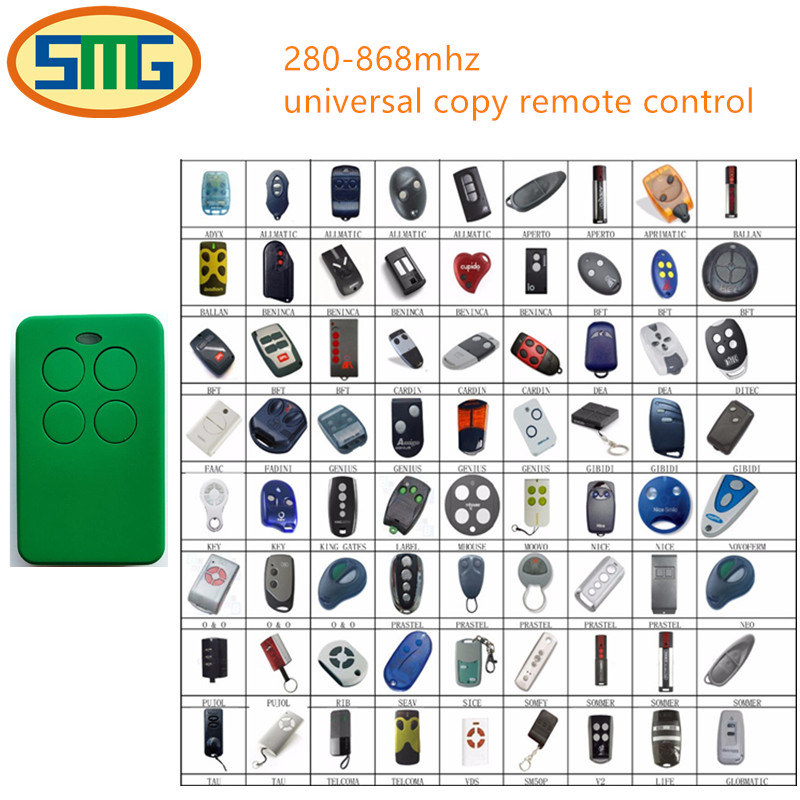 10pcs Universal Garage Door Cloning Remote Control Key Fob 280-868mhz Gate Opener remote ...