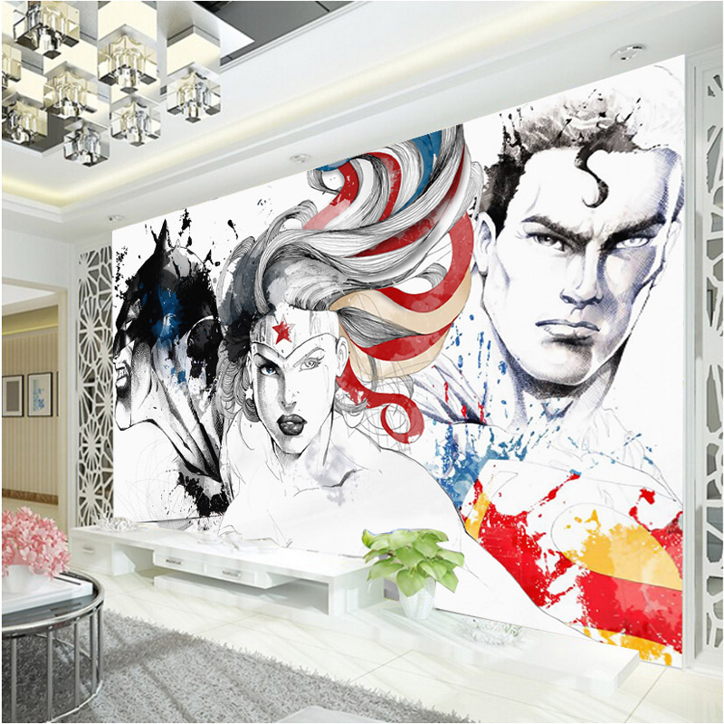 Wonder Woman Wallpaper Batman 3d Wall Mural Justice League