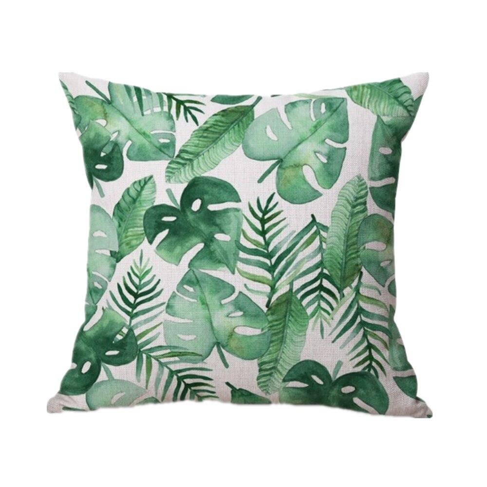 43×43 Cm Coj N Decorativo De La Cubierta De Lino Hoja De Pl Tano  # Muebles Hoja De Banano