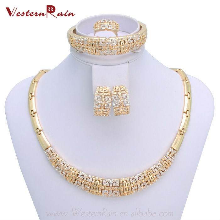 WesternRain Charms Style Gold Plated Jewelry Chunky Necklace Sets