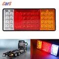 2 PCS 44 LEDs Tailights HM-022 Caminhão Cauda Luz Traseira Luz de Advertência Do Carro À Prova D' Água para o Caminhão Reboque Do Barco Caravana