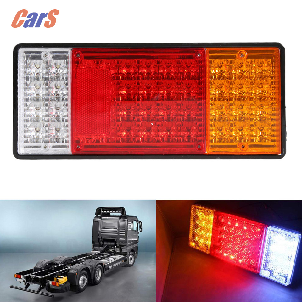 2PCS 44 LEDs Truck Rear Tail Light HM 022 Waterproof Car Warning Light Tailights for Truck