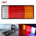 2PCS 44 LEDs Truck Rear Tail Light HM-022 Waterproof Car Warning Light Tailights for Truck Boat Trailer Caravan
