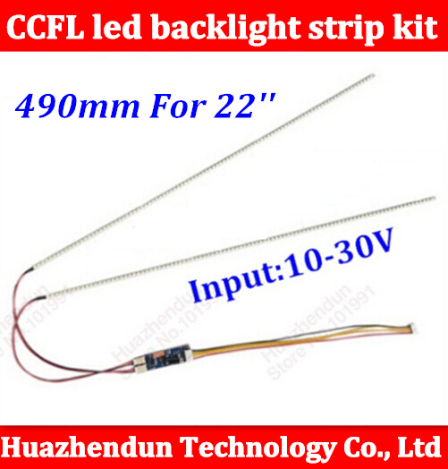 1PCS 490mm Adjustable brightness led backlight strip kit,Update your 22inch ccfl lcd wide screen panel monitor to led bakclight creatall 540mm adjustable brightness led backlight strip kit update your 24inch ccfl lcd screen panel monitor to led bakclight