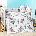 New Arrived 8PCS Children's Bed Linen, Bedding Set Cots For Babies, Baby Crib Protector Bumpers In The Crib For a Newborn
