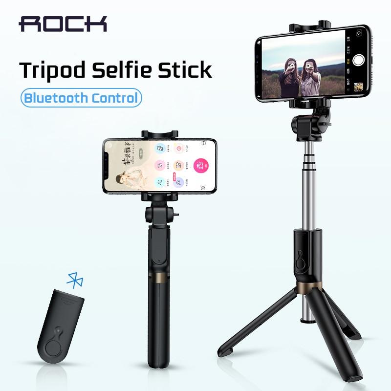 ROCK trípode Monopod Palo autofoto Bluetooth con botón De Pau De Palo Selfie Palo para Android/Huawei teléfono inteligente para iphone 6 7 8