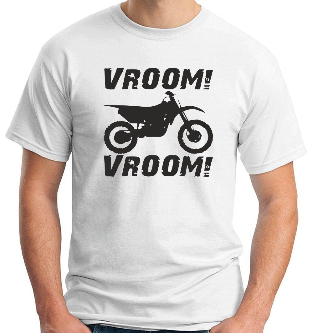 2018 New Hot Sale Men T-shirt Vroom Vroom Motorcycles Motocross T-shirt