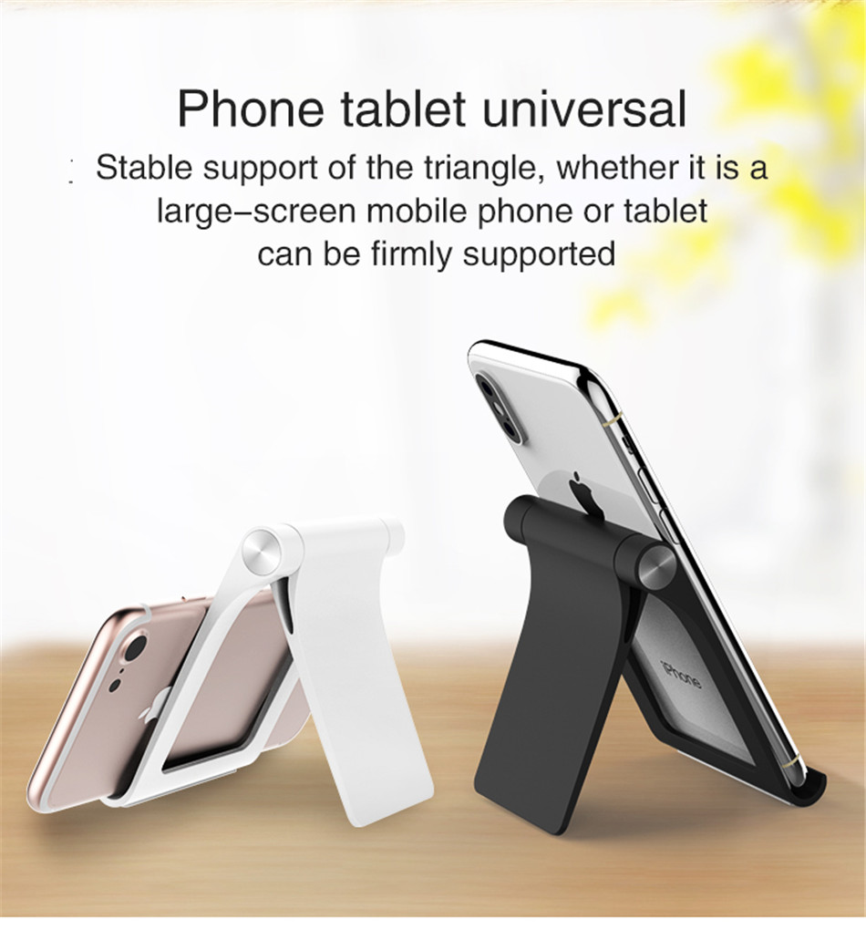 Universal Adjustable Phone Holder Stand For 7 8 Plus X Mobile Phones Hard PC Folding Tablet Stand Holder For S9 (2)