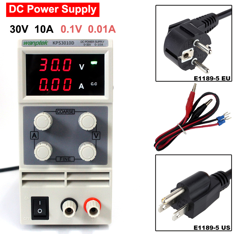 ffac5ef88f4a 30V 10A DC Power SupplyKPS3010D Variable Adjustable DC Swithing single  channel Regulated Laboratory Power Supply PS3010D