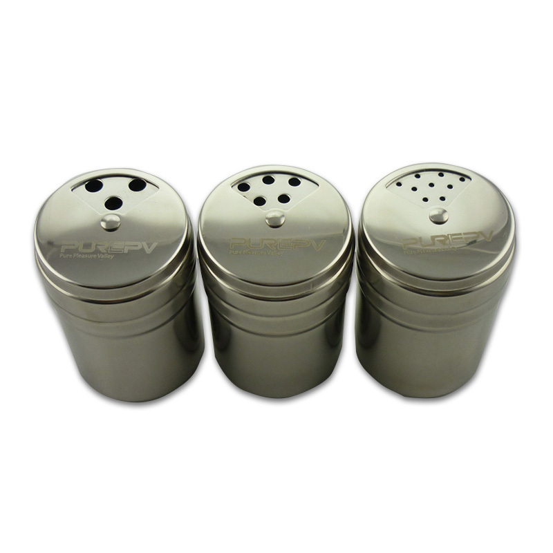 New Stainless Steel Spice Shaker Pepper Salt Bottle Seasoning Pot Box Condiment Jar Seasoning