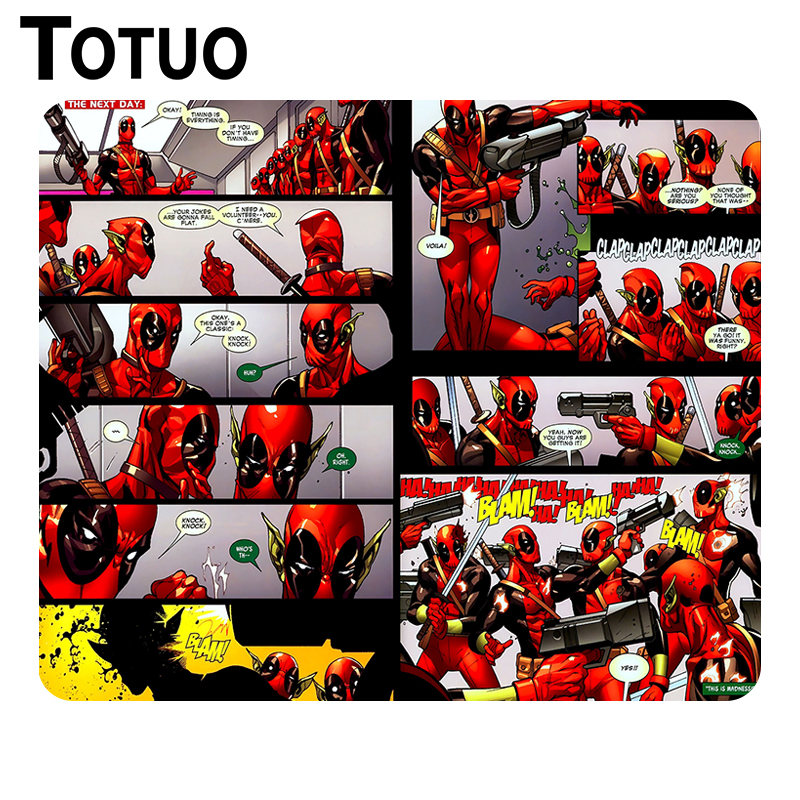 New Hot Deadpool Wade Winston Mouse Pad Soft Desktop Anti-slip Mouse Mat gamer Optical C ...