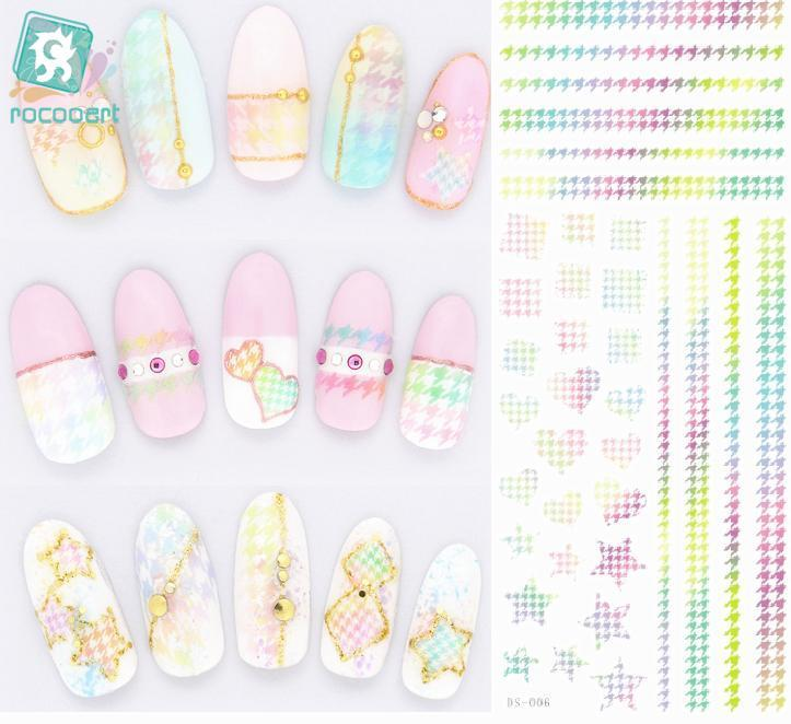 Rocooart DS006 Water Transfer Foils Nail Art Sticker Harajuku Rainbow Stars Element Nail Wraps Decals Manicure Decor Styling серьги с рубинами и бриллиантами из розового золота valtera 66688