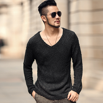 Long Sleeve Pullovers Men Sweater