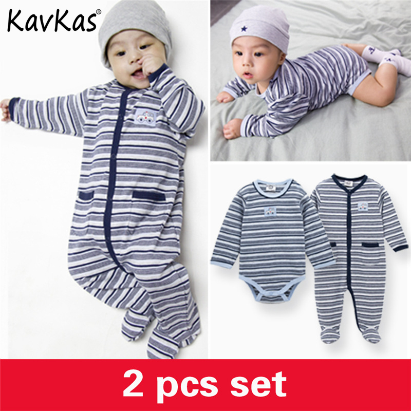 2018 Winter Wear Baby Boy Body Suits Clothing Infant Stripe Rompers Coveralls Long Sleeve O-neck Newborn Baby Jumpsuit Overalls