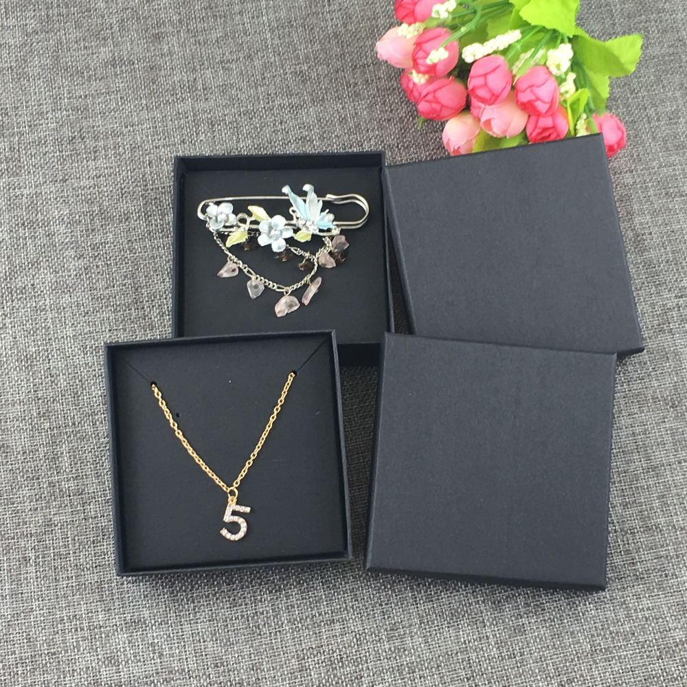12Set black Jewelry Box&Jewelry Cards Earring/Necklace BOX Blank Jewelry Displays Packaging Jewelry Set /Hand Made Gift Boxes
