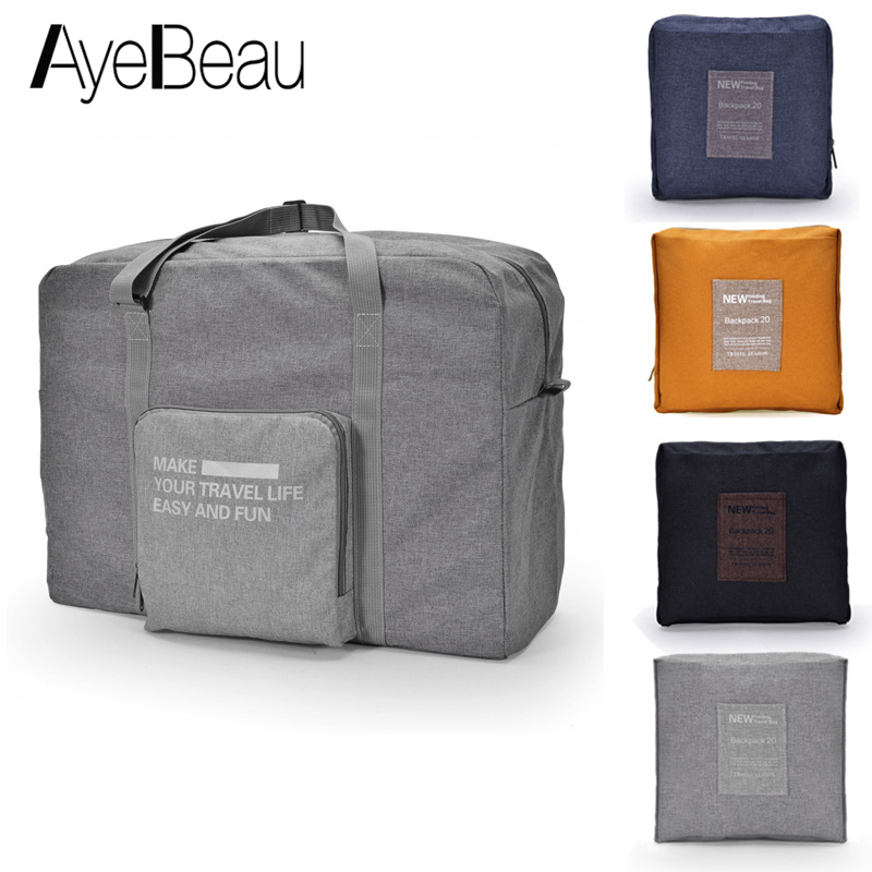 Men Women Travel Bag Female Male Foldable Big For Overnight Voyage Weekend Duffel Hand Luggage Duffle Large Cabin Carry Handbag