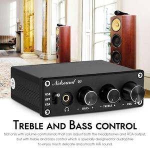 Image 4 - Nobsound HiFi USB DAC Mini Digital to Analog Converter Coax/Opt Headphone Amp With Treble Bass Control