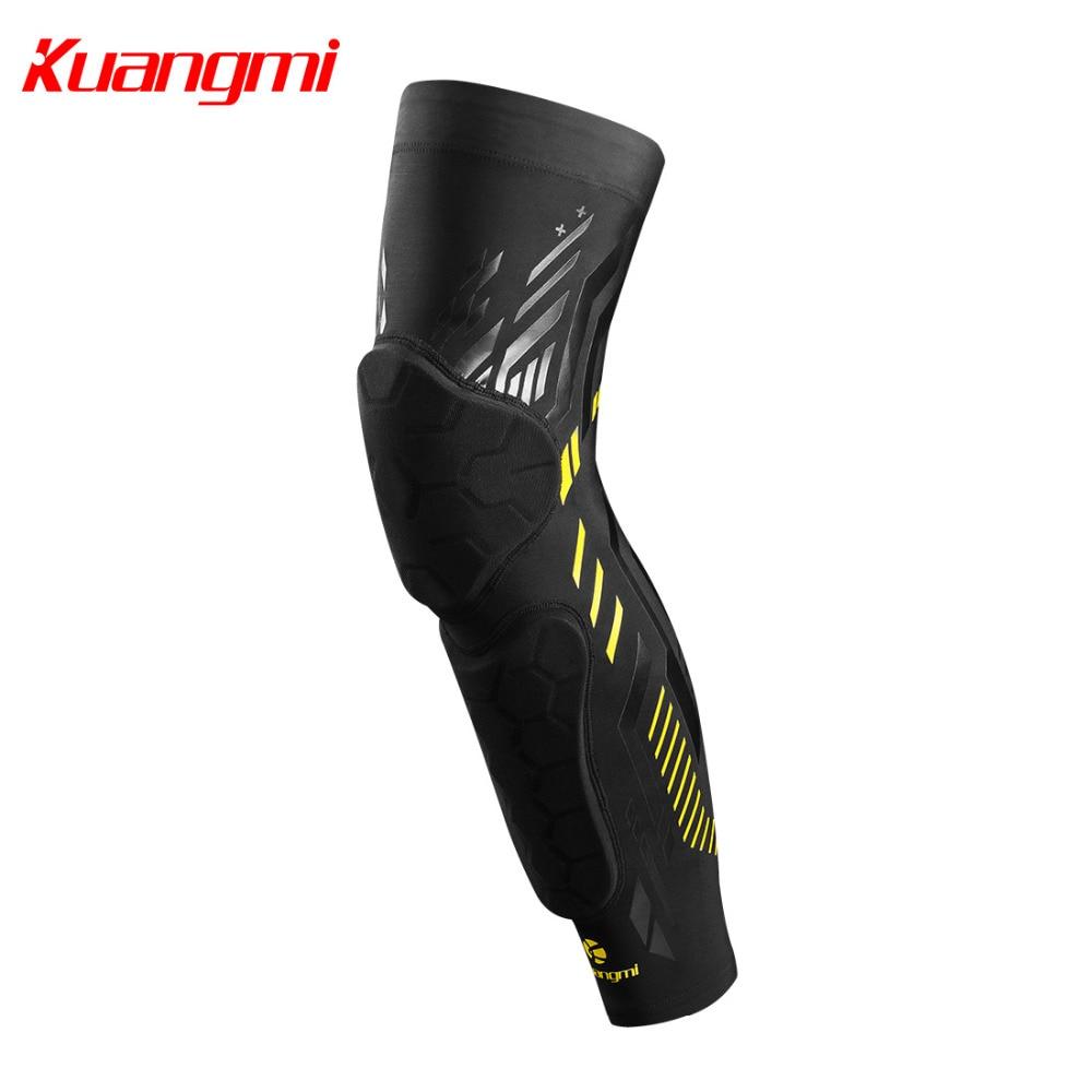 Kuangmi 1 PC Basketball Crashproof Knee Brace Support Shin Guard Leg Warmers Calf Compression Ski Knee Sleeve Protector Dropship
