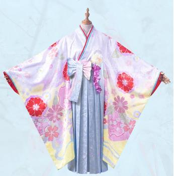 Game Fate/Grand Order Cosplay Matthew Kyrielight Cos Halloween Party Women's Fashion Print Sweet Kimono Costume