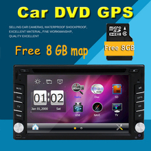 New universal Car Radio Double 2 Din Car DVD Player GPS Navigation In dash Car PC Stereo Head Unit video+Free GPS Map Bluetooth