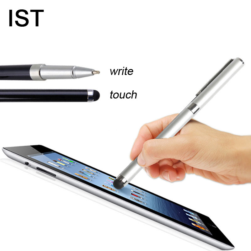IST Quality Metal Capacitive Touch Pen For iPhone 5 6 7 Plus Samsung Galaxy Sony Smartphone tablet Built-in Water-Based Pen