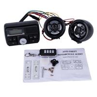 Motorcycle USB Audio FM TF MP3 Handlebar Stereo 2 Speaker Amplifier Sound System Alarm Motorbike Anti