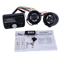 Motorcycle USB Audio FM TF MP3 Handlebar Stereo 2 Speaker Amplifier Sound System Alarm Motorbike Anti