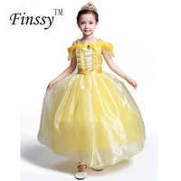 2017 Beauty And The Beast Cosplay Costume For Girls Halloween Costume For Kids Princess Belle Dress