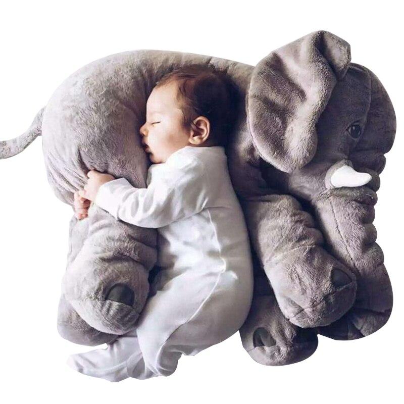 40-60cm Elephant Plush Toys Baby Pillow Elephant Sleeping Back Cushion Stuffed  Animal Elephant Doll Toys Kids Christmas Gift