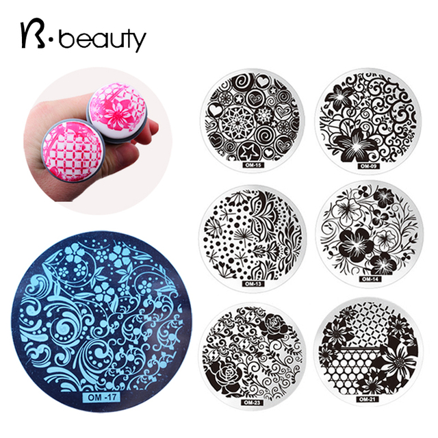 10pcs New Design OM Nail Art Stamping Plate,Fashion Nail Art ...