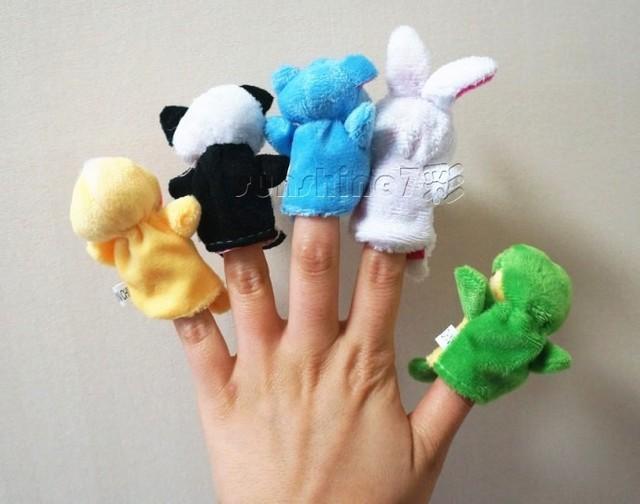 Plush 10 finger Puppets Mini Animal Finger Dolls