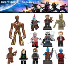 Single Sale Legoing Avengers Super Heroes Star-Lord Rocket Raccoon Mini Tree Man Legoingly Guardian of the Galaxy Building Brick(China)
