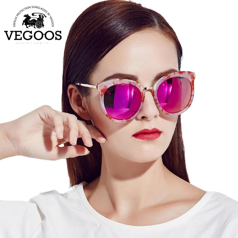 7416747e47501 VEGOOS Nova Moda Polarized Marca Designer Retro Óculos de Sol Das Mulheres  Óculos de Sol Redondos óculos de Armação Mulher Tamanho Grande  9085