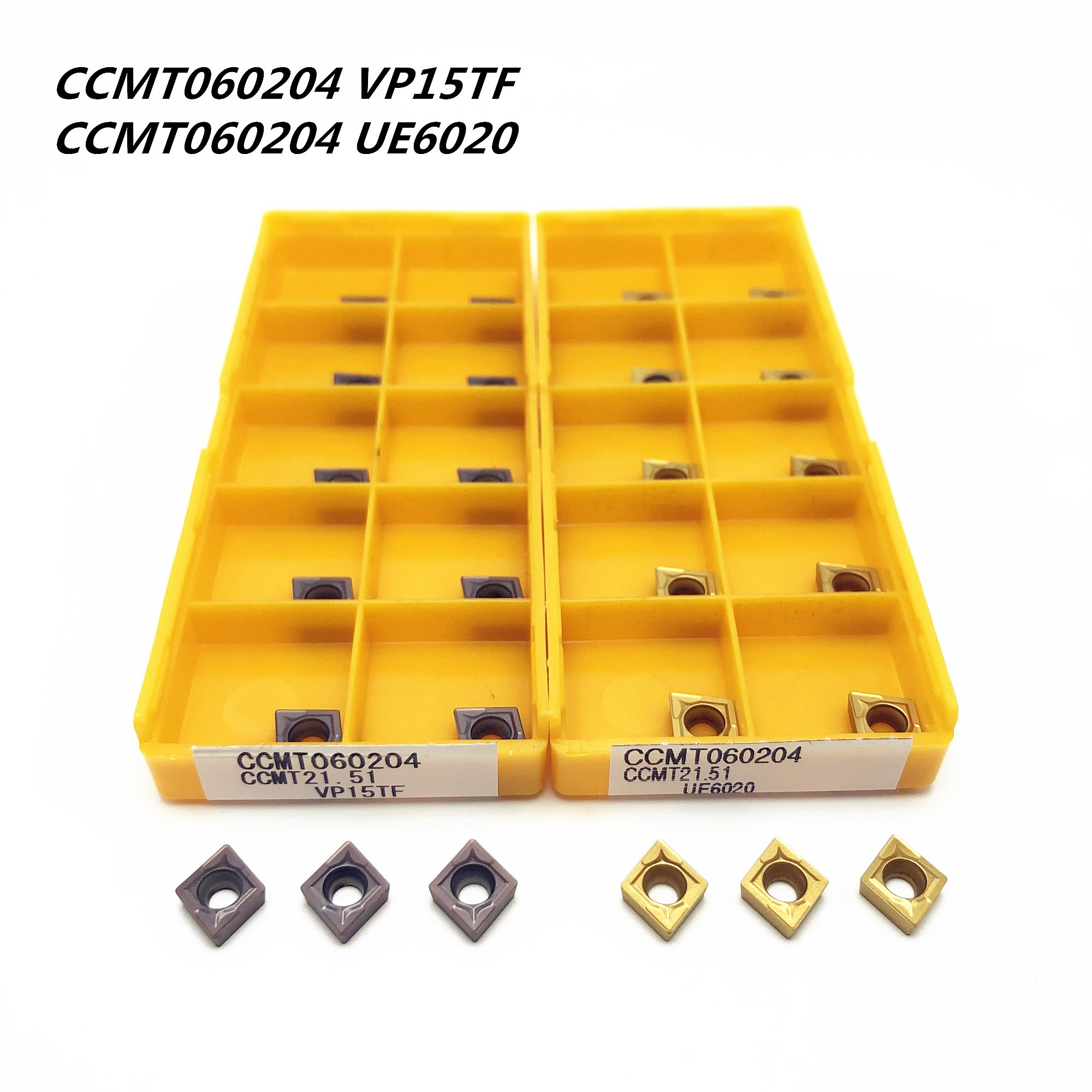 10pcs CCMT060204 VP15TF Carbide Inserts Blade for SCLCR Turning Tool Holder Lath
