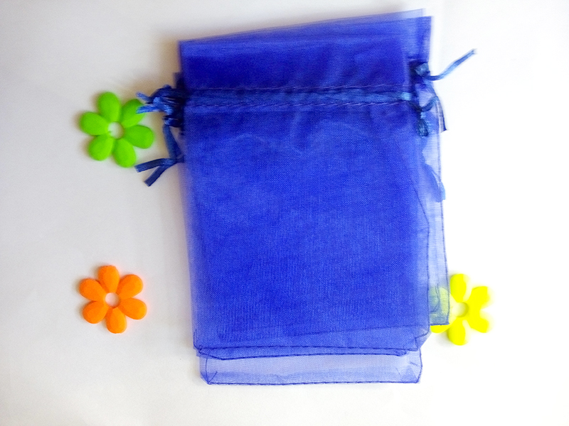 1000pcs 17*23cm Royal blue Organza gift bag jewelry packaging display bags Drawstring pouch for bracelets/necklace mini Yarn bag