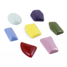 GDFSY 7color 2pcs/lot DIY Resin Irregular Shape Decoration Fashion Womens Hand made Earring Jewelry For Party Gifts S023