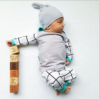 3PCS Set Newborn Kids Baby Boys Girls Outfits Clothes Set T Shirt Tops Casual Long Sleeve